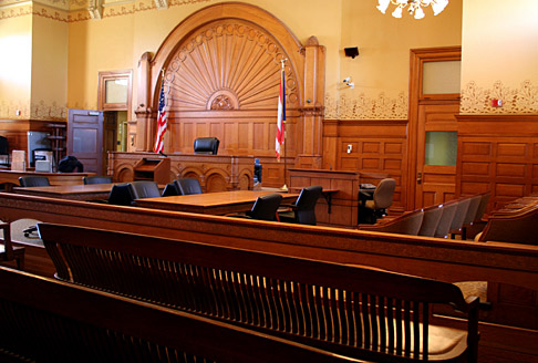 Image showing courtroom setting
